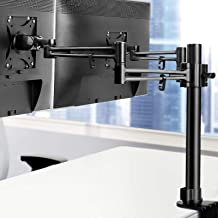 Artiss Dual Monitor Stand Holder Two Arm Monitor Mount for Two 10 to 30 inch LED LCD TV Computer Screens Fully Adjustable ...
