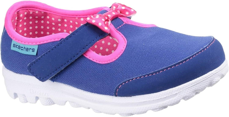 Skechers Childrens Girls Go Walk Bitty Bow Touch Fasten Shoe