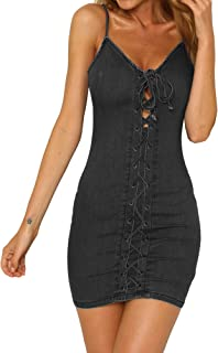 Best black denim dress Reviews