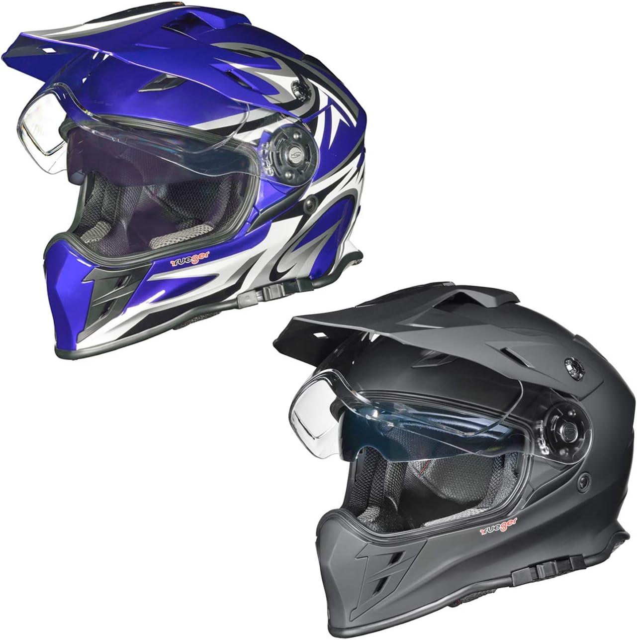Rx 967 Crosshelm Integralhelm Quad Cross Enduro Motocross Offroad Helm Rueger Größe M 57 58 Farbe Blau V Rck Auto