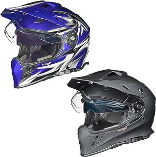 RX-967 Crosshelm Integralhelm Quad Cross Enduro Motocross Offroad Helm rueger, Größe:L 59-60, Farbe:Blau V/RCK