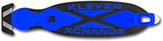 Klever X-Change Safety Cutter, 6-1/2 in, Black/Blue