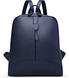 Hot Style Women Real Genuine Leather Backpack Purse SchoolBag for ladies by Coolcy (Royal blue)
