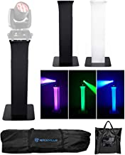 (1) Totem Light Stand+Black+White Scrims For Chauvet Rogue R1 Wash
