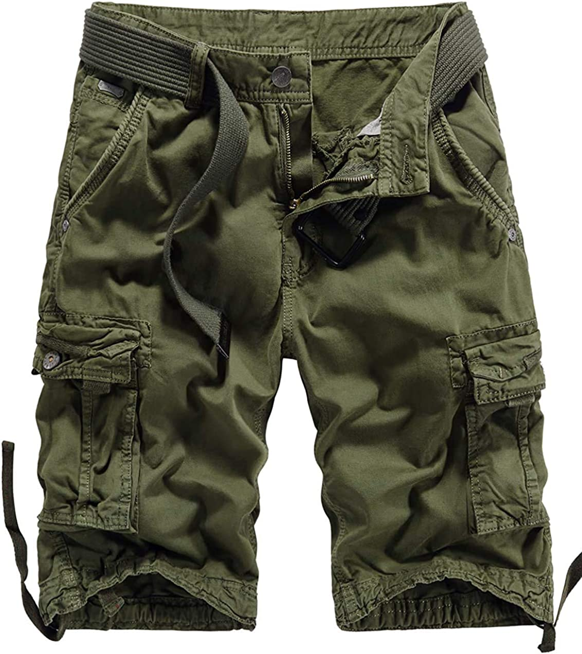 Alilyol 2021 New Men's Camo Cargo Shorts Casual Multi-Pockets Outdoor Camouflage Cotton Shorts for Men