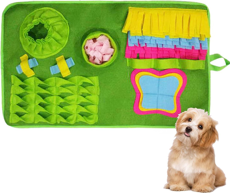 XINGGANG Snuffle Mat para Perros Alfombra Olfato Perro Mat Mascotas Que fomenta Las Habilidades Naturales de forrajeo Colchonetas para Resbalar Antideslizantes Lavable a Máquina 75 x 43cm