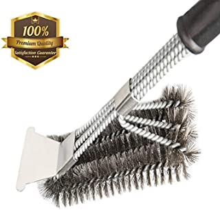 MOORAY Grill Brush BBQ Cleaning Scraper Safe Bristle Free Grill Cleaner Barbecue Brush for Porcelain Rust Resistant Stainless Steel Brush