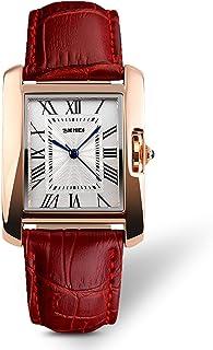 IJAHWRS Womens Analog Watches Quartz Wristwatch Business Casual Watch Unique Dress Watch Square Dial Roman Numeral