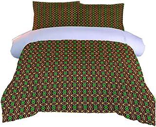 DJDSBJ Housse de Couette 260x240cm literie en Coton Polyester avec Fermeture éclair Invisible + 2 taies d'oreiller.Convien...