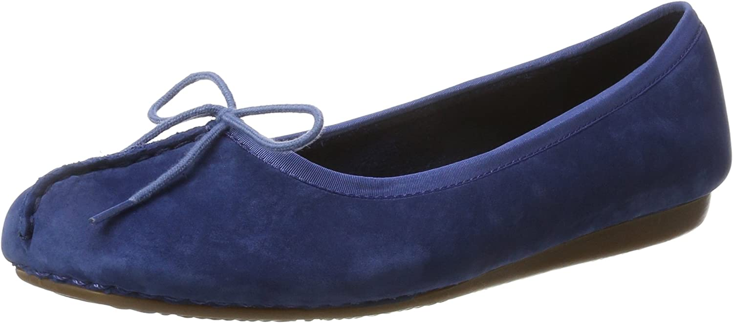Clarks Freckle Ice - Dark bluee Leather Womens shoes