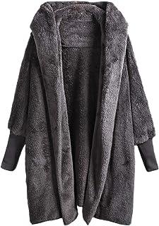 SweatyRocks Chaqueta de piel sintética con capucha para mujer, color caqui