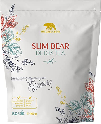 The Green Bear Detox Tea for Weight Loss and Belly Fat, Natural Slimming Tea