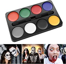 Unomor Halloween Makeup Kit Face Painting for Clown Witch Vampire Makeup Costume – 8 Colors