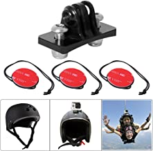 Aluminum Alloy Action Camera Multi-Sports Helmet Mount Skydiving Skating Cycling Helmet Holder Adapter Compatible with GoPro Hero 7 6 5 4 Session DJI Osmo Action Yi Akaso Eken Motion Sports Camcorder
