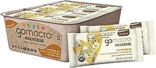 GoMacro MacroBar Organic Vegan Protein Bars Coconut + Almond Butter 2.3 Ounce Bars (Pack of 12)