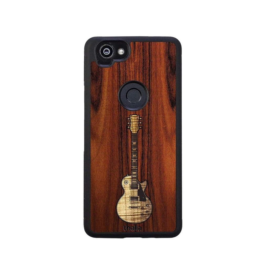 Santos Rosewood & Les Paul Hawaiian Koa Inlaid Guitar Phone Case | Thalia Exotic Wood Cases Google Pixel 2