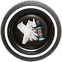 Tire Stickers White Wall Tire Kit - Do-It-Yourself Rubber White Wall Application Kit - 4 Pieces Per Tire - Custom Sizing/Thickness