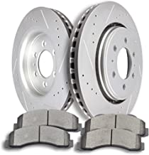 Brake Kits,SCITOO 2pcs Slotted Drilled Brake Discs Rotors and 4pcs Ceramic Disc Brake Pads fit 2010 2011 2012 2013 2014 2015 Ford F-150,2010 2011 2012 2013 2014 Ford Expedition Lincoln Navigator,Front