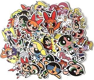 Powerpuff Girls Cartoon Themed Set of 36 Assorted Stickers Decal Set