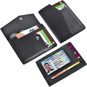 Zonlicat Men's Slim RFID Blocking Leather Wallet