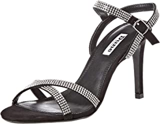 Dune London Madalenna Di Sandal For Women, Black, 37 EU