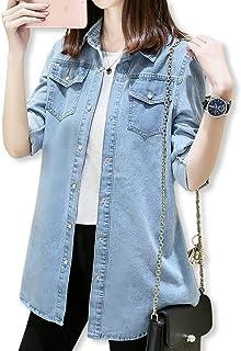 [スロウライド] レディース 女の子 デニム ジャケット シャツ ブラウス トップス カジュアル オフィス ビジネス フォーマル