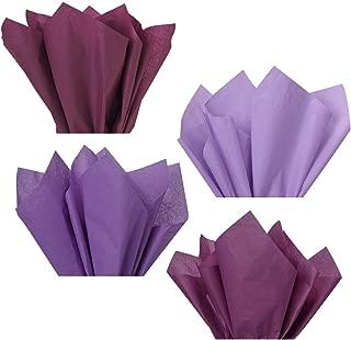 Plum Lavender Violet Purple Assorted Mixed Color Multi-Pack Tissue Paper for Flower Pom Poms Art Craft Wedding Bridal Baby Shower Party Gift Bag Basket Filler Decoration (96 Sheets, 15