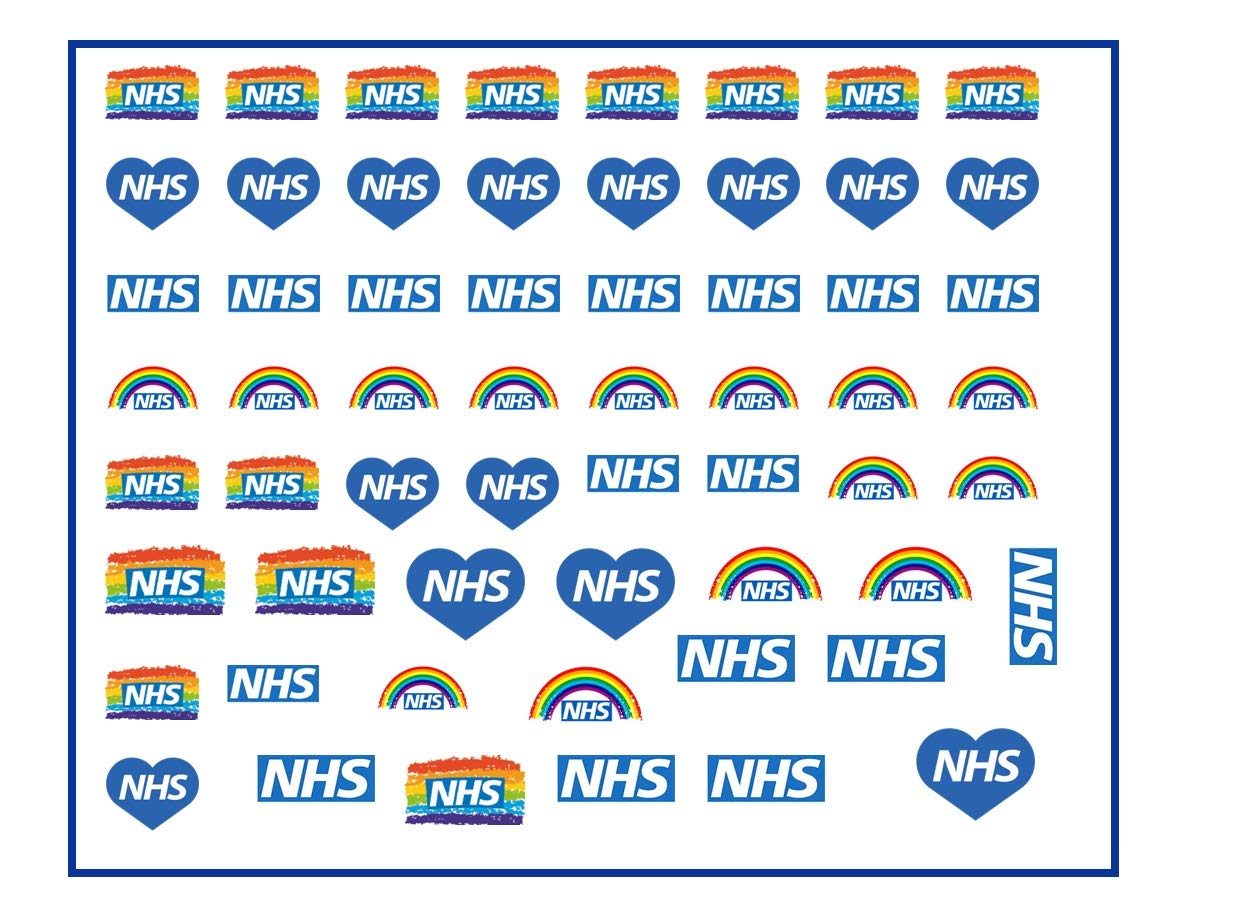 Stay Home Protect The NHS Save Lives Vinyl Sticker 210x70mm