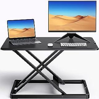 "ErGear Standing Desk Converter Height Adjustable Stand Up Desktop Riser, 28"" Ergonomic Gas Spring Sit to Stand Workstation..."