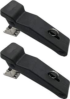 Creatyi 2 PCS Latest Model Rubber Flexible Black Soft Draw Latches with Hole