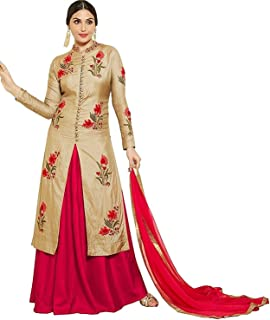 Pashva Enterprise Women's Cotton Semi-Stitched Salwar Suit (Free Size Upto XXL) (Premium A1 Quality)