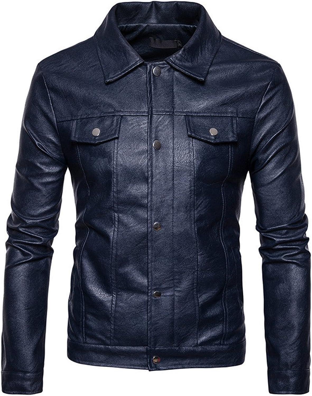 Fjubjv mnner - Casual Mode Jacke im Herbst und Winter,Die Marine in Tibet,XL