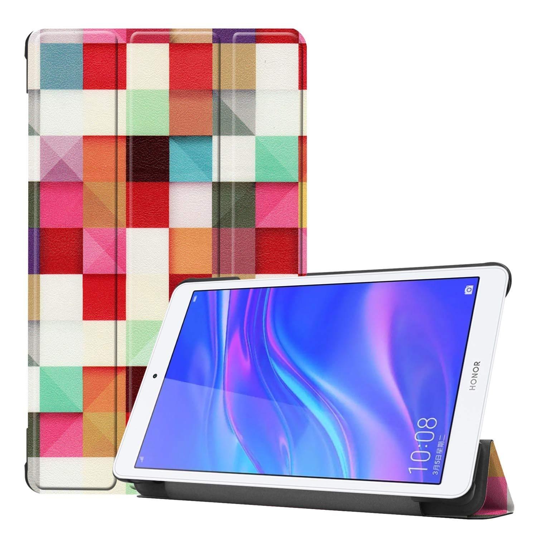 GHFPCASE Estuche de Cuero con Flip Horizontal Pintado Coloreado con patrón Cubo mágico para Huawei Honor Tab 5 8.0, con Soporte Plegable GHFPCASE: Amazon.es: Electrónica