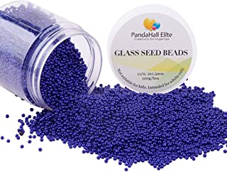 PandaHall Elite About 6000 Pcs 11/0 Glass Seed Beads Opaque Blue Round Pony Bead Mini Spacer Beads Diameter 2mm for Jewelry Making