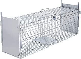 VIVOHOME Collapsible Double Doors Live Animal Cage Trap for Racoons Cats Squirrels Opossum Ground Hog 36 x 10 x 12 Inch