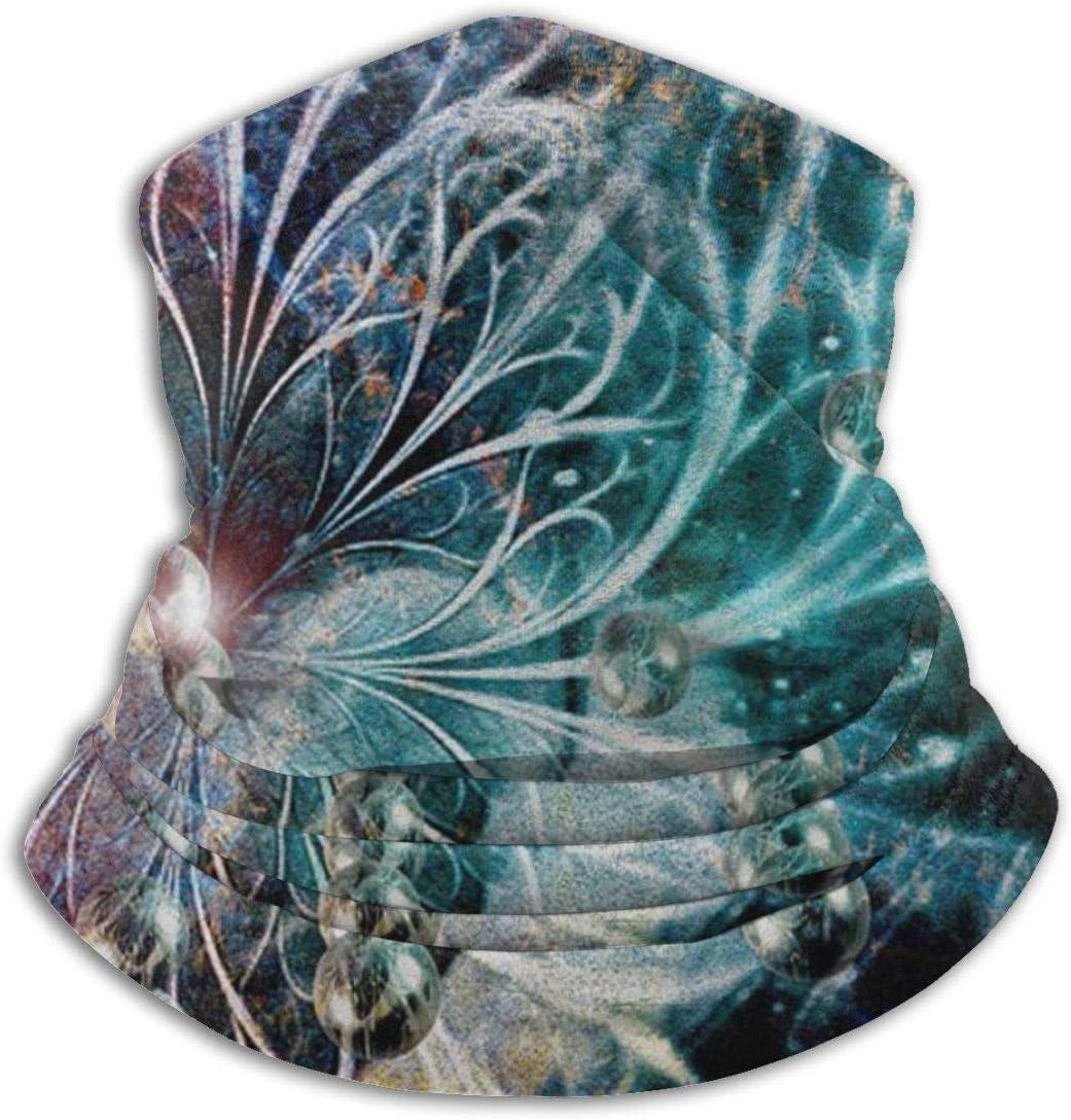 Scarf Fleece Neck Warmer Cosmic Heart Spiral Hearts Love Science Windproof Winter Neck Gaiter Cold Weather Face Mask for Men Women