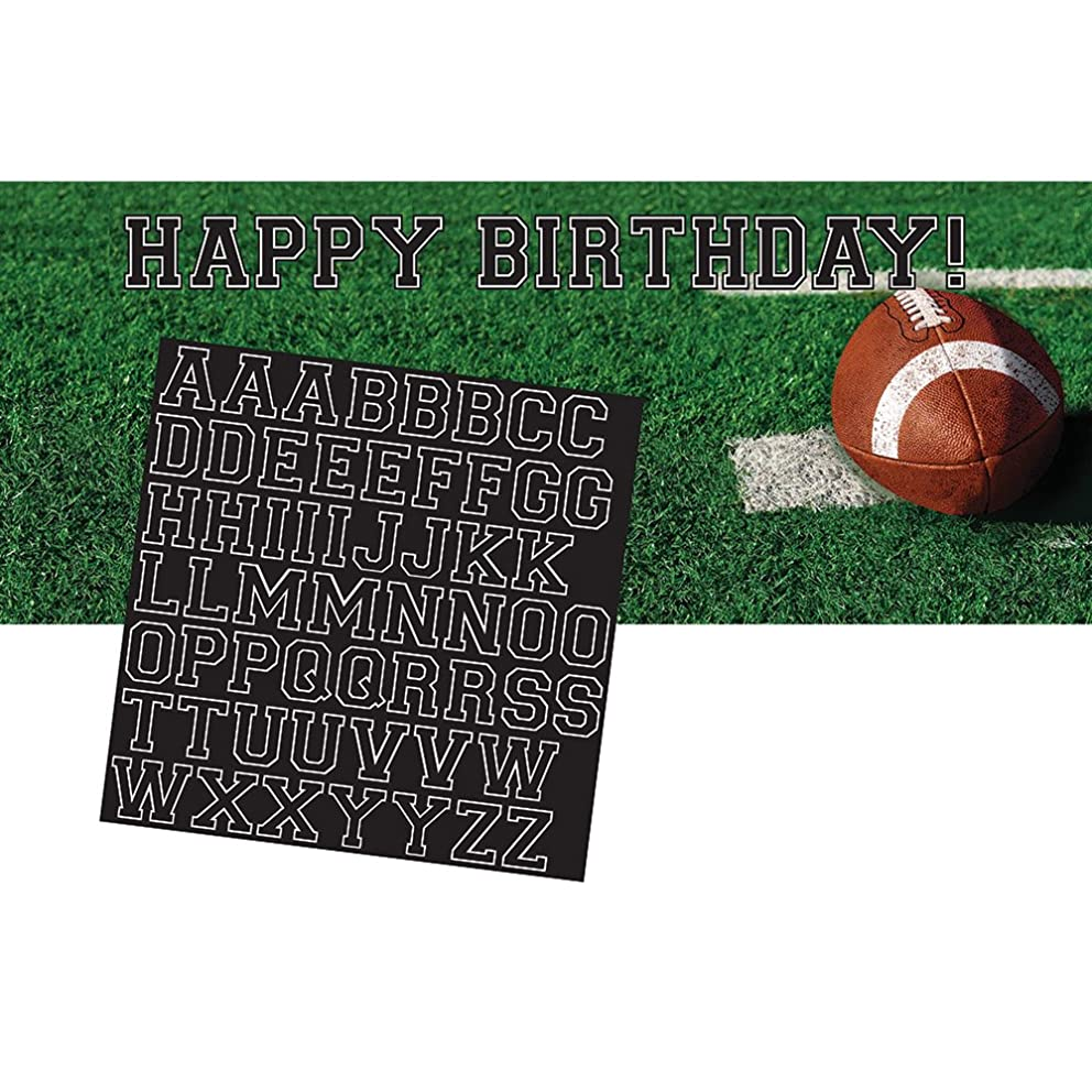 Creative Converting 296151 Tailgate Rush Giant Party Banner with Stickers