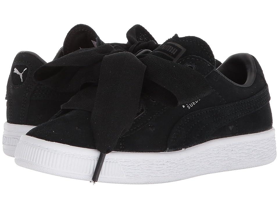 Puma Kids Suede Heart Valentine (Little Kid) (Puma Black/Puma Black) Girls Shoes