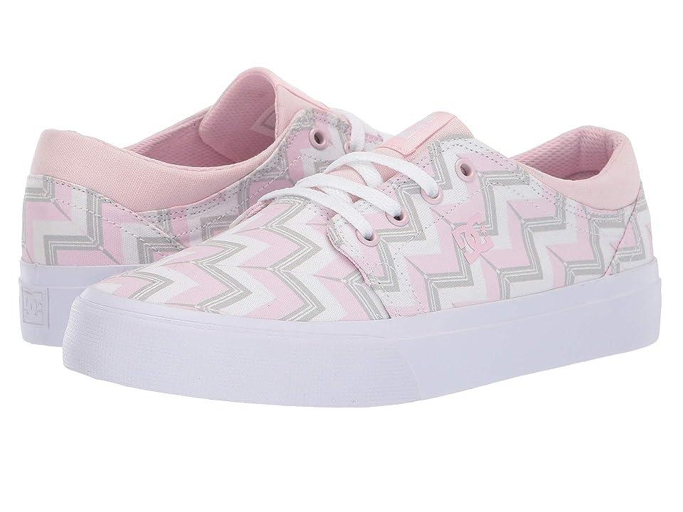 DC Kids Trase SP (Little Kid/Big Kid) (Pink Stripe) Girls Shoes