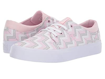 DC Kids Trase SP (Little Kid/Big Kid) (Pink Stripe) Girls Shoes