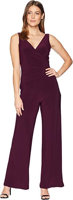 Ity Sleeveless Jumpsuit w/ Surplus Detail & Asymmetrical Bodice