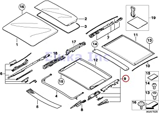 BMW Genuine Panoramic Roof Sunroof Repair Kit For Sunroof Shade X5 3.0i X5 4.4i X5 4.8is 530xi 535xi