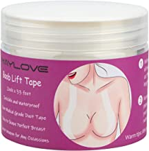 New Breast Tape Invisible Breast Lift Tape Transparent Medical Grade Breast Tape Strapless Bra Tape designed for Boby Skin Kim K's Secret (33FT)