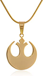 Unisex Rebel Alliance Stainless Steel Gold IP Small Chain Pendant Necklace (SALES1SWMD)