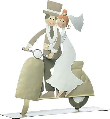 Amazon.com: Pareja de metal para novia en motocicleta.: Home ...