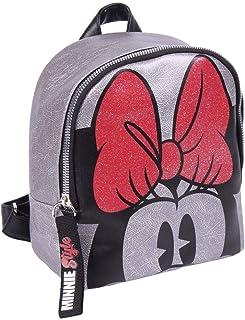 Mochila Minnie Mouse Casual-Licencia Oficial Disney para Mujer, Multicolor, Pequeño