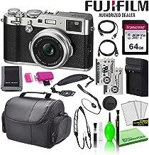 Fujifilm X100F 24.3MP Point & Shoot Digital Camera (Silver) (16534584) USA Model Bundle with Transcend 64GB SDXC SD Card +...