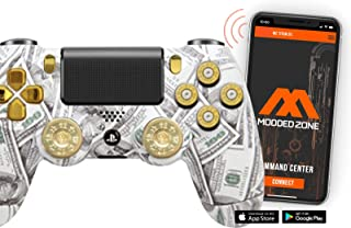 Money Talks w/ShotGun Thumbsticks and Real Gold 9 mm Bullet Buttons PS4 PRO Smart Rapid Fire Modded Controller Mods for FP...