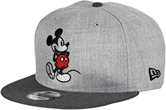 New Era Mickey Mouse Heather Grey Graphite Snapback Cap 9fifty 950 Disney Basecap Limited Edition