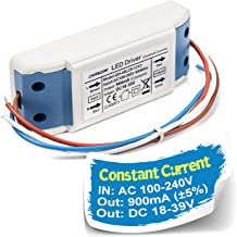 Chanzon LED Driver 900mA (Constant Current Output) 18V-39V (Input 100-240V AC-DC) (6-12)x3 18W 21W 24W 27W 30W 36W Power Supply 900 mA Lighting Transformer for High Power 30 W COB Chips (Plastic Case)